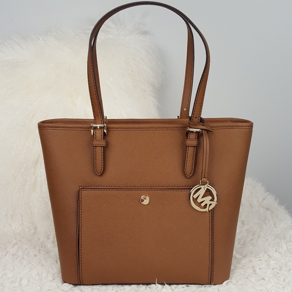 4503d3158a7d MICHAEL Michael Kors Bags | Nwt Michael Kors Js Md Pocket Tote Brown ...